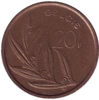 20 франков. 1982 год, Бельгия. (Belgie)