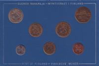 Набор монет Финляндии (7 шт), 1973 год, Финляндия. (в банковской упаковке)