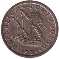 Монета 2,5 эскудо. 1984 год, Португалия.