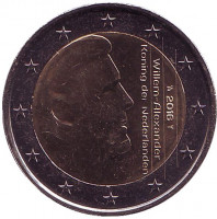 Монета 2 евро. 2016 год, Нидерланды.