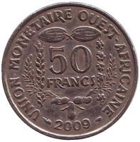 Монета 50 франков. 2009 год, Западные Африканские штаты.
