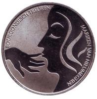 2000 лет Неймегену. Бургундский траур. Памятный жетон. 1 крона, 2005 год, Нидерланды.
