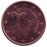 Монета 5 центов. 2009 год, Кипр.