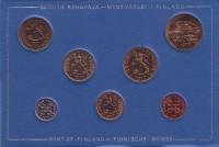 Набор монет Финляндии (7 шт), 1977 год, Финляндия. (в банковской упаковке)