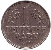 Монета 1 марка. 1970 год (J), ФРГ.