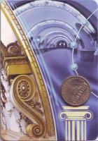 Первый жетон Ленинградского метрополитена (1958 года). Памятный жетон в блистере, Санкт-Петербург, 2007 год.