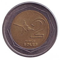 Монета 2 новых соля. 1994 год, Перу.