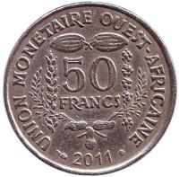 Монета 50 франков. 2011 год, Западные Африканские штаты.