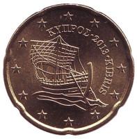 Монета 20 центов. 2013 год, Кипр.