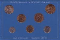 Набор монет Финляндии (7 шт), 1978 год, Финляндия. (в банковской упаковке)