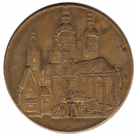 Собор. 950 лет Наумбургу. Настольная медаль. 1978 год, ГДР.