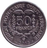 Монета 50 франков. 2013 год, Западные Африканские штаты.