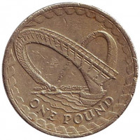 "Мост ""Миллениум"" в Гейтсхеде. Монета 1 фунт. 2007 год, Великобритания."