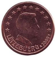 Монета 1 цент. 2009 год, Люксембург.