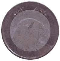 Сокол. Монета 10 динаров. 2002 год, Алжир.