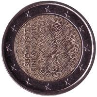 100-летие независимости Финляндии. Монета 2 евро. 2017 год, Финляндия.