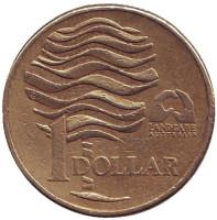 Landcare Australia — организация по защите окружающей среды. Монета 1 доллар. 1993 год, Австралия. Из обращения.