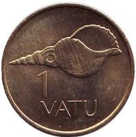 Ракушка. 1 вату, 1983 год, Вануату.