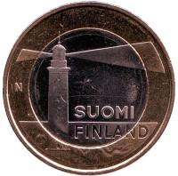 Аландские острова. (Маяк). Монета 5 евро, 2013 год, Финляндия.