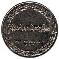 "Admiral. Novomatic International. ""N"". Игровой жетон, Австрия."