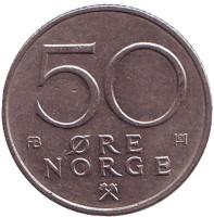 Монета 50 эре. 1978 год, Норвегия.