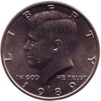 Джон Кеннеди. Монета 50 центов. 1989 год (P), США. UNC.