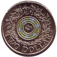 День памяти павших. Монета 2 доллара. 2017 год, Австралия. (Без отметки)