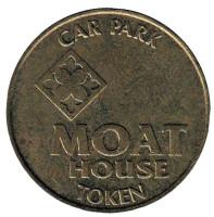 Moat House. Car Park. Парковочный жетон, Великобритания.