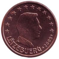 Монета 5 центов. 2009 год, Люксембург.