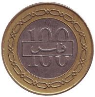 Монета 100 филсов. 2001 год, Бахрейн.