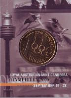 Олимпийские игры в Сиднее. Монета 1 доллар. 2000 год, Австралия. (Канберра)
