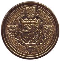 Подебрады. Герб города. Сувенирный жетон, Чехия.