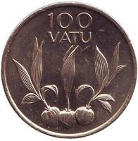 Сельскохозяйственные растения. Монета 100 вату. 1995 год, Вануату. UNC.