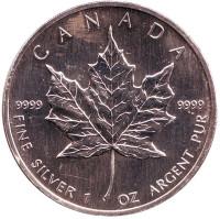 Кленовый лист. Монета 5 долларов. 2003 год, Канада.