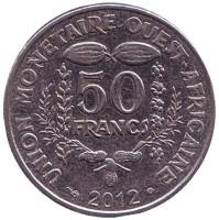 Монета 50 франков. 2012 год, Западные Африканские штаты.