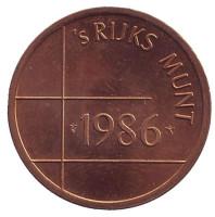 Жетон Нидерландского монетного двора. 1986 год.