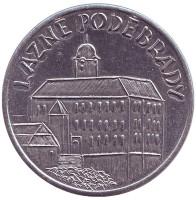 Подебрадский замок. Сувенирный жетон, Чехия.