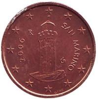 Монета 1 цент, 2006 год, Сан-Марино.