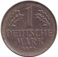 Монета 1 марка. 1972 год (J), ФРГ.