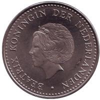 Монета 2,5 гульдена. 1985 год, Нидерландские Антильские острова.