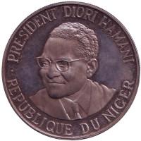 Независимость. Монета 1000 франков. 1960 год, Нигер.