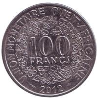Монета 100 франков. 2012 год, Западные Африканские штаты.