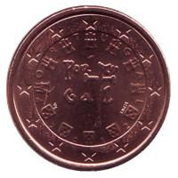 Монета 1 цент. 2012 год, Португалия.