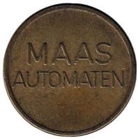 Maas Automaten. Automatische Drankenvoorzeining. Жетон кофейного автомата. Нидерланды.