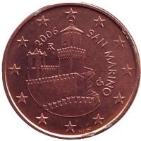Монета 5 центов, 2006 год, Сан-Марино.