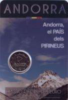 Андорра - Пиренейская страна. Монета 2 евро. 2017 год, Андорра.