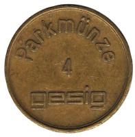 Parkmunze 4. Gesig. Парковочный жетон.