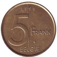 5 франков. 1998 год, Бельгия. (Belgie)