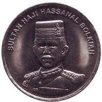 Султан Хассанал Болкиах. Монета 20 сен. 2009 год, Бруней.