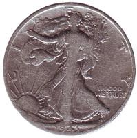 Шагающая свобода. Монета 50 центов. 1943 год (S), США.